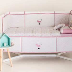 mister moon 8 pieces bumper cot set